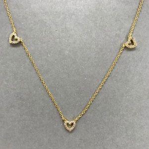ZokyDoky Jewelry - Cubic Zirconia Heart 14K Gold Vermeil Necklace,NWT